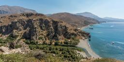 Plage de Preveli en Crète. Source : http://data.abuledu.org/URI/55ccc195-plage-de-preveli-en-crete