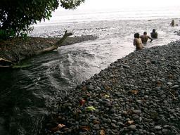 Plage volcanique au Cameroun. Source : http://data.abuledu.org/URI/56b6ca63-plage-volcanique-au-cameroun