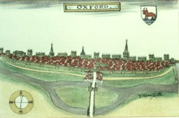 Plan d'Oxford en 1588. Source : http://data.abuledu.org/URI/582f4225-plan-d-oxford-en-1588