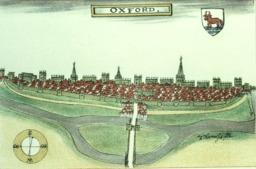 Plan d'Oxford en 1588. Source : http://data.abuledu.org/URI/582f4225-plan-d-oxford-en-1588
