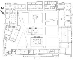 Plan de la 3° cour du Palais de Topkapi. Source : http://data.abuledu.org/URI/51138c06-plan-de-la-3-cour-du-palais-de-topkapi