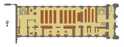 Plan de la Bibliothèque de Rennes en 1895. Source : http://data.abuledu.org/URI/53befa58-plan-de-la-bibliotheque-de-rennes-en-1895