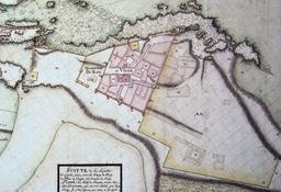 Plan de la citadelle d'Essaouira en 1767. Source : http://data.abuledu.org/URI/5309e329-plan-de-la-citadelle-d-essaouira-en-1767