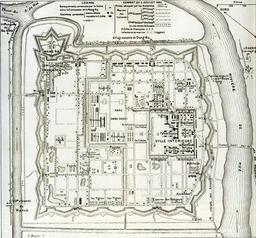 Plan de la Citadelle de Hué en 1885. Source : http://data.abuledu.org/URI/5309e0de-plan-de-la-citadelle-de-hue-en-1885