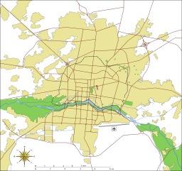Plan de la ville moderne d'Ispahan. Source : http://data.abuledu.org/URI/5209372f-plan-de-la-ville-moderne-d-isfahan