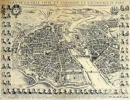 Plan de Paris en 1657. Source : http://data.abuledu.org/URI/51422985-plan-de-paris-en-1657