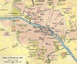 Plan de Paris en 1789. Source : http://data.abuledu.org/URI/51422df9-plan-de-paris-en-1789