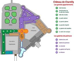 Plan de visite du Musée Condé. Source : http://data.abuledu.org/URI/529bc726-plan-de-visite-du-musee-conde