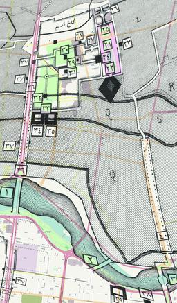 Plan du centre historique d'Isfahan en 2010. Source : http://data.abuledu.org/URI/5652115a-plan-du-centre-historique-d-isfahan-en-2010
