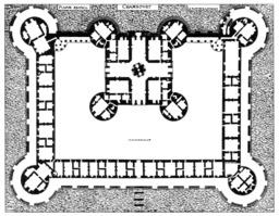 Plan du château de Chambord. Source : http://data.abuledu.org/URI/50e85726-plan-du-chateau-de-chambord