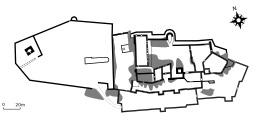 Plan du château de Guirbaden. Source : http://data.abuledu.org/URI/51b0f734-plan-du-chateau-de-guirbaden