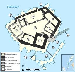 Plan du château de Kisimul en Écosse. Source : http://data.abuledu.org/URI/51cde89e-plan-du-chateau-de-kisimul-en-ecosse