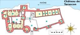 Plan du Château de Tarascon. Source : http://data.abuledu.org/URI/54b86755-plan-du-chateau-de-tarascon