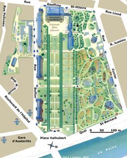 Plan du Jardin des Plantes. Source : http://data.abuledu.org/URI/5103df49-plan-du-jardin-des-plantes