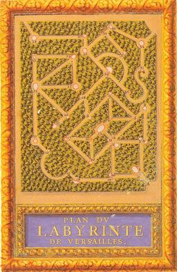 Plan du Labyrinthe de Versailles en 1677. Source : http://data.abuledu.org/URI/53d6d280-plan-du-labyrinthe-de-versailles-en-1677