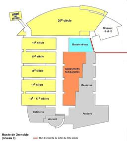 Plan du musée de Grenoble. Source : http://data.abuledu.org/URI/534c40e6-plan-du-musee-de-grenoble