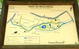 Plan du Parc Moulineau à Gradignan. Source : http://data.abuledu.org/URI/582647f7-plan-du-parc-moulineau-a-gradignan