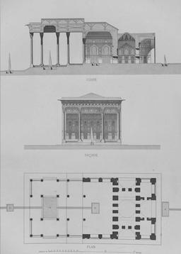 Plan du Pavillon d'Aynekhane en 1840. Source : http://data.abuledu.org/URI/5651f2b6-plan-du-pavillon-d-aynekhane-en-1840