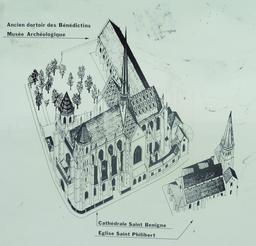 Plan du quartier de la cathédrale à Dijon. Source : http://data.abuledu.org/URI/59269dbb-plan-du-quartier-de-la-cathedrale-a-dijon