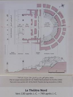 Plan du Théâtre Nord de Jerash. Source : http://data.abuledu.org/URI/54b44e8b-plan-du-theatre-nord-de-jerash