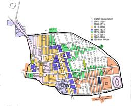 Plan hippodamien de Pompéi. Source : http://data.abuledu.org/URI/555f4532-plan-hippodamien-de-pompei