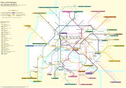 Plan schématique du métro de Paris. Source : http://data.abuledu.org/URI/50dce6d8-plan-schematique-du-metro-de-paris