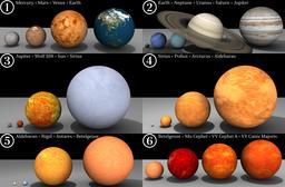 Planètes et étoiles. Source : http://data.abuledu.org/URI/5343099d-planetes-et-etoiles