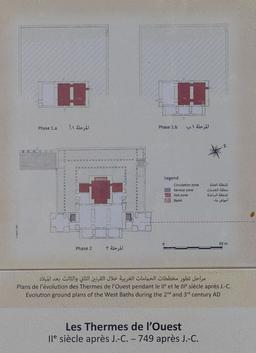 Plans de l'évolution des thermes de l'ouest à Jerash. Source : http://data.abuledu.org/URI/54b59b4e-plans-de-l-evolution-des-thermes-de-l-ouest-a-jerash