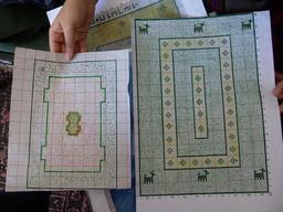 Cartons de tapis iraniens. Source : http://data.abuledu.org/URI/53ae17ac-plans-de-tapis-iraniens