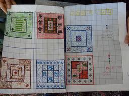 Cartons de tapis iraniens. Source : http://data.abuledu.org/URI/53ae1819-plans-de-tapis-iraniens