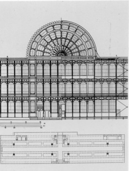 Plans du Crystal Palace de Londres en 1852. Source : http://data.abuledu.org/URI/5489be18-plans-du-crystal-palace-de-londres-en-1852