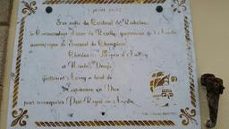 Plaque commémorative à Port-Goustan. Source : http://data.abuledu.org/URI/56d15c7c-plaque-commemorative-a-port-goustan