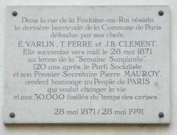 Plaque commémorative dans le 11e arrondissement. Source : http://data.abuledu.org/URI/5043deff-plaque-commemorative-dans-le-11e-arrondissement