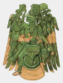 Plaque en cuivre mississippienne. Source : http://data.abuledu.org/URI/512114bf-plaque-en-cuivre-mississippienne