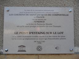 Plaque jacquaire en Aveyron. Source : http://data.abuledu.org/URI/506b4ffc-plaque-jacquaire-en-aveyron