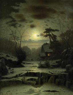 Pleine lune en hiver. Source : http://data.abuledu.org/URI/515716af-pleine-lune-en-hiver
