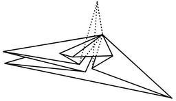 Pli aplati en origami. Source : http://data.abuledu.org/URI/518fef85-pli-aplati-en-origami