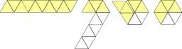Pliage d'un trihexaflexagone. Source : http://data.abuledu.org/URI/52f2b25b-pliage-d-un-trihexaflexagone