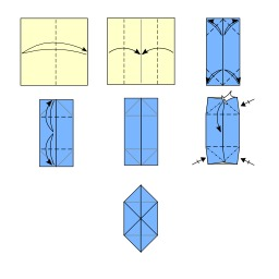 Pliage de cochon en origami. Source : http://data.abuledu.org/URI/52f27f47-pliage-de-cochon-en-origami