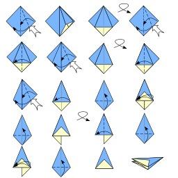 Pliage de parapluie en origami. Source : http://data.abuledu.org/URI/52f28010-pliage-de-parapluie-en-origami