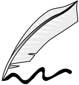 Plume d'écrivain. Source : http://data.abuledu.org/URI/504b9d8f-plume-d-ecrivain