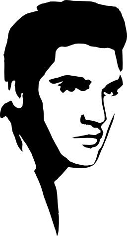 Pochoir d'Elvis Presley. Source : http://data.abuledu.org/URI/530fcd1d-pochoir-d-elvis-presley