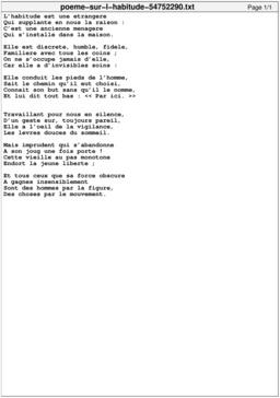 Poème sur l'habitude. Source : http://data.abuledu.org/URI/54752290-poeme-sur-l-habitude