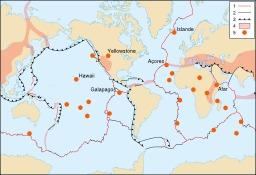 Points chauds géologiques. Source : http://data.abuledu.org/URI/5094edf1-points-chauds-geologiques