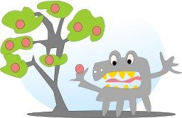 Pommier à 8 pommes. Source : http://data.abuledu.org/URI/50499b48-pommier-a-8-pommes
