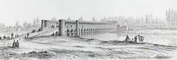 Pont d'Allahverdi Khan en 1840. Source : http://data.abuledu.org/URI/56521411-pont-d-allahverdi-khan-en-1840