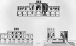 Pont de Khaju en 1840. Source : http://data.abuledu.org/URI/56520f31-pont-de-khaju-en-1840