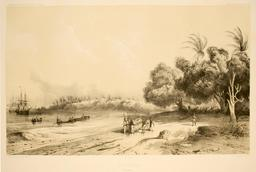 Port d'Apia en 1838. Source : http://data.abuledu.org/URI/59809e87-port-d-apia-en-1838
