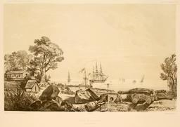 Port Essington en Australie en 1838. Source : http://data.abuledu.org/URI/598162d3-port-essington-en-australie-en-1838