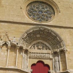 Portail de l'église de Saint-Macaire-33. Source : http://data.abuledu.org/URI/599a9a9d-portail-de-l-eglise-de-saint-macaire-33